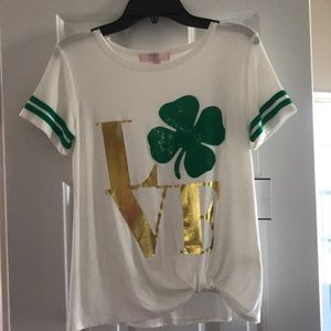 Now Moa Girls St Patrick's Day Shirt L NWT